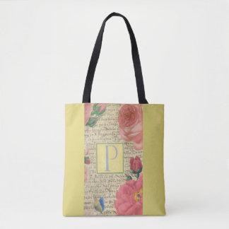 Classic elegant design of monogram tote bag