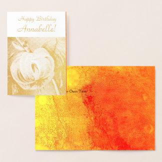 Classic Elegant Lily  - Happy Birthday - Customize Foil Card