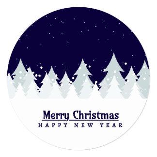 Classic & elegant winter pines customizable colour card
