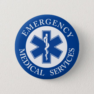 Classic EMT EMS Paramedic Symbol 2 Inch Round Button