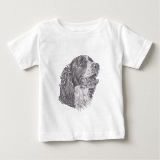 Classic English Springer Spaniel profile Drawing Baby T-Shirt