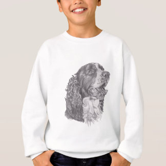 Classic English Springer Spaniel profile Drawing Sweatshirt