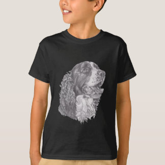 Classic English Springer Spaniel profile Drawing T-Shirt