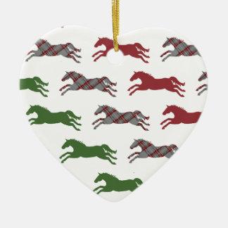 Classic Equestrian Christmas Ceramic Ornament