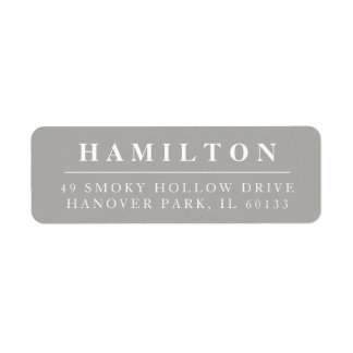 Classic Family Monogram Return Address Label