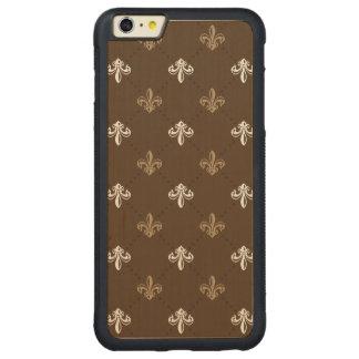 Classic Fashion Fleur-de-lis Brown Pattern