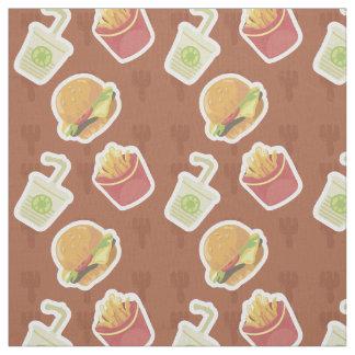 Classic Fastfood Pattern Fabric