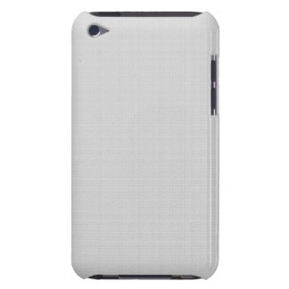 Classic Faux Linen Silver Grey Barely There iPod Case