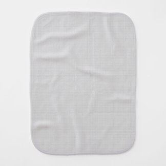Classic Faux Linen Silver Grey Burp Cloth