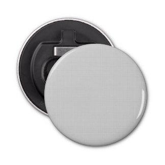 Classic Faux Linen Silver Grey Button Bottle Opener