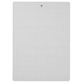 Classic Faux Linen Silver Grey Clipboard