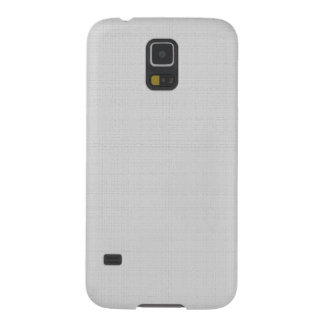 Classic Faux Linen Silver Grey Galaxy S5 Covers