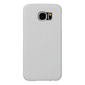 Classic Faux Linen Silver Grey Samsung Galaxy S6 Cases
