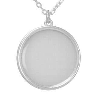 Classic Faux Linen Silver Grey Silver Plated Necklace