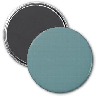 Classic Faux Linen Smalt Blue 3 Inch Round Magnet
