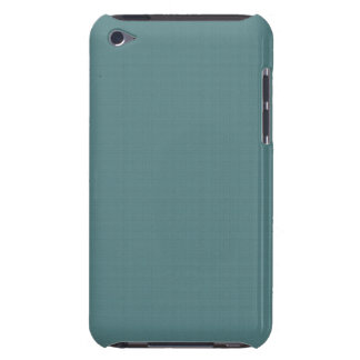 Classic Faux Linen Smalt Blue Barely There iPod Cover