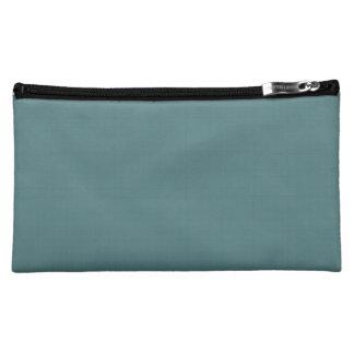 Classic Faux Linen Smalt Blue Cosmetic Bags