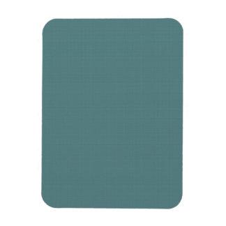 Classic Faux Linen Smalt Blue Rectangular Photo Magnet