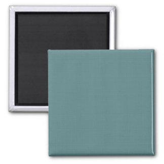 Classic Faux Linen Smalt Blue Square Magnet