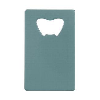 Classic Faux Linen Smalt Blue Wallet Bottle Opener