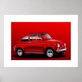 Classic Fiat 500 Poster