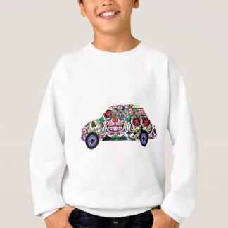 Classic Fiat With Sugar Skulls Sweatshirt