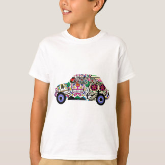 Classic Fiat With Sugar Skulls T-Shirt