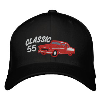 Classic Fifties Vintage Car Customizable Year Embroidered Baseball Caps