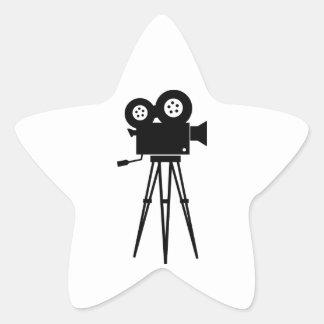 Classic Film Camera Star Sticker