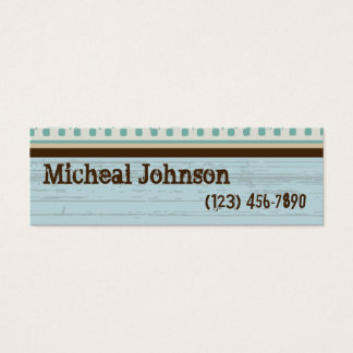 Classic Film Grunge Mini Business Card