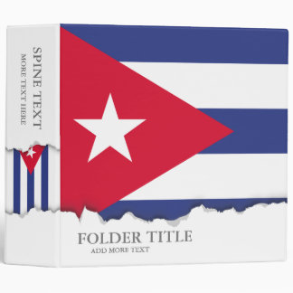 Classic Flag of Cuba 3 Ring Binders