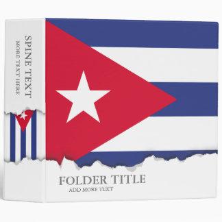 Classic Flag of Cuba Binder