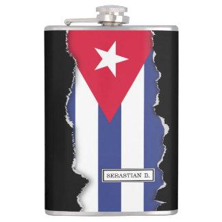 Classic Flag of Cuba Flask