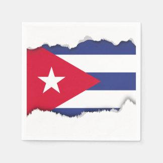 Classic Flag of Cuba Paper Napkins