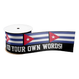 Classic Flag of Cuba Satin Ribbon