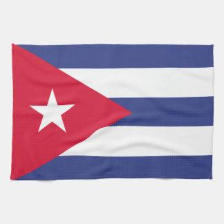 Classic Flag of Cuba Towels