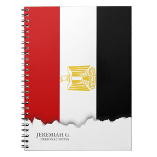 Classic Flag of Egypt Spiral Notebook