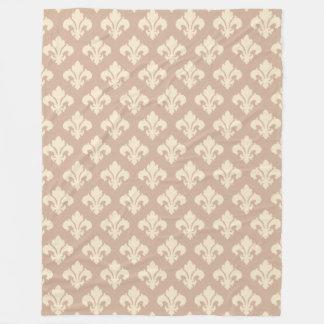 Classic Fleur de Lis Fleece Blanket