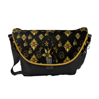 Classic floral courier bag