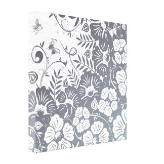 Classic Floral Design Stretched Canvas Prints