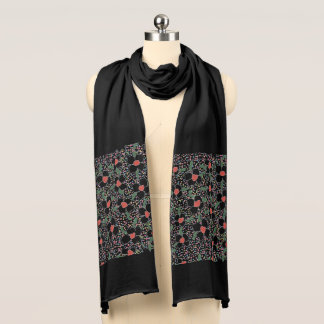Classic Floral Pattern Scarf