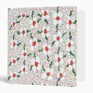 Classic Floral Pattern Three Ring Binder