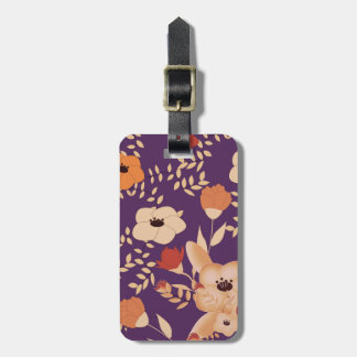 classic floral printing luggage tag