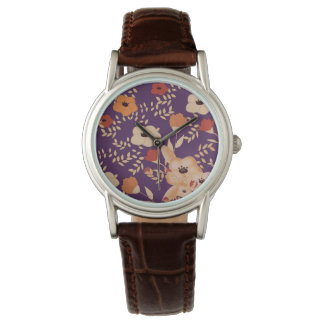 classic floral printing watch