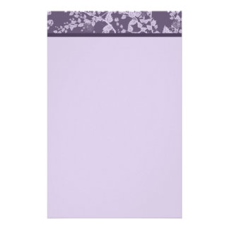 Classic Floral Purple Paper Stationery