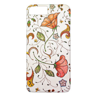 Classic floral vines and paisley iPhone 8 plus/7 plus case