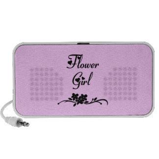 Classic Flower Girl Mp3 Speakers