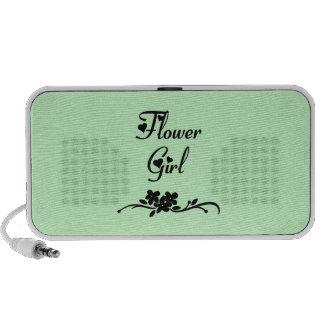 Classic Flower Girl Travel Speaker