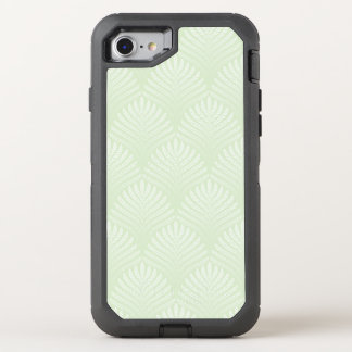 Classic foliage pattern in white and green OtterBox defender iPhone 7 case