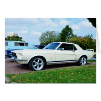 Classic Ford Mustang Greeting Card